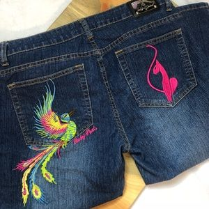 Baby Phat Capris Peacock Jeans 11/12